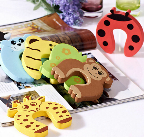 6pcs Baby Safety Door Stop Finger Pinch Guard Lock Jammer Stopper Protect lj