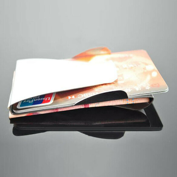 Mini Stainless Steel Double Sided Credit Card Holder Wallet ID Card Box #gib