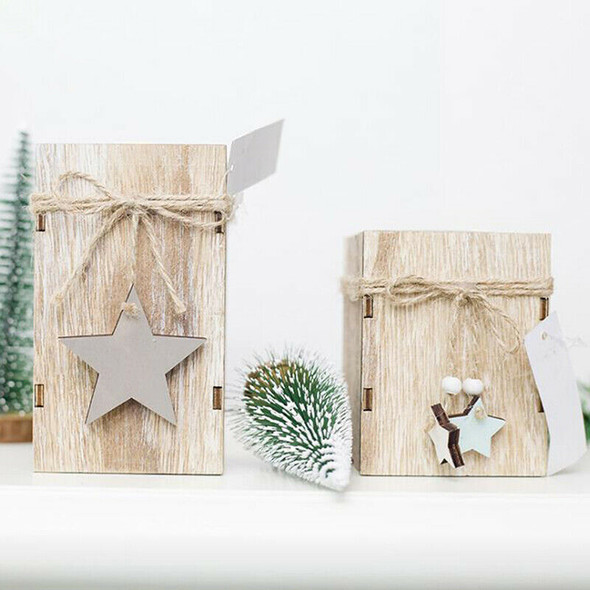 Wood Candlestick Candle Holder Christmas Decorative Lanterns With Home Decor
