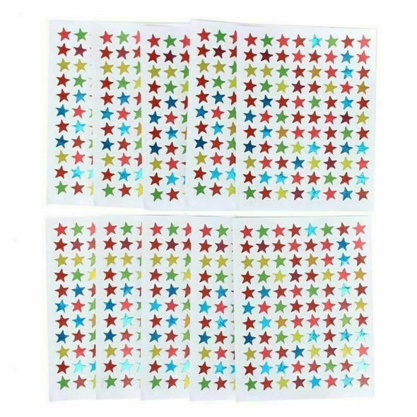 880PCS/10 Sheets Star Shape Stickers Labels For School G4X7 Children Rew Te O2A0
