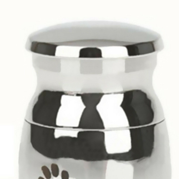 Paw Letters Printed Stainless Steel Pet Cinerary Casket Urn Pendant Deluxe