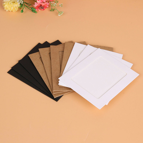 10pcs 4 inch Wall Hanging Photo Paper Frame Picture Display Modern Art Home #gib