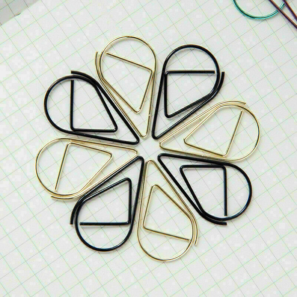 50x Shool Office Stationary Colorful Silvery Bookmark Metal Clips Gifts L3K O8N4