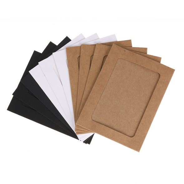 10pcs 5 inch Wall Hanging Photo Paper Frame Picture Display Modern Art Home #gib