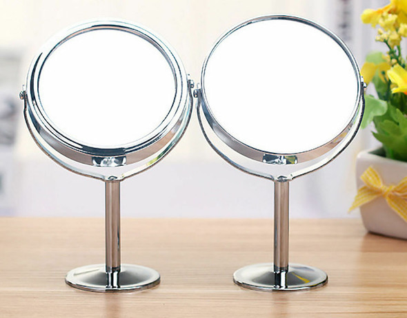 Women Beauty Make up Cosmetic Double Side Normal + Magnifying Stand Mirror LJ