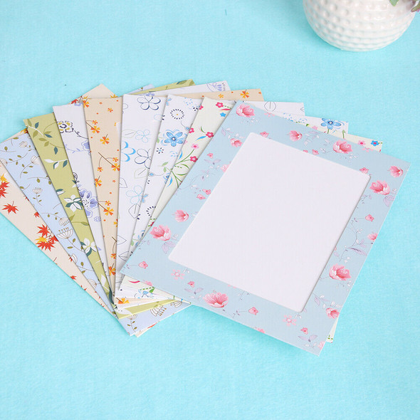 7inch DIY Photo Wall Fresh Small Floral Paper Hanging Album Combination #gib