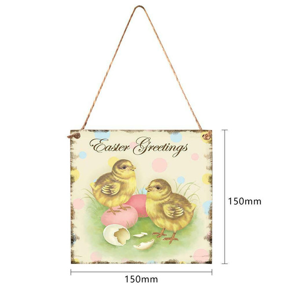Cute Easter Chicken Wood Hanging Plaque Home Wall Festival Pendant Decor #gib