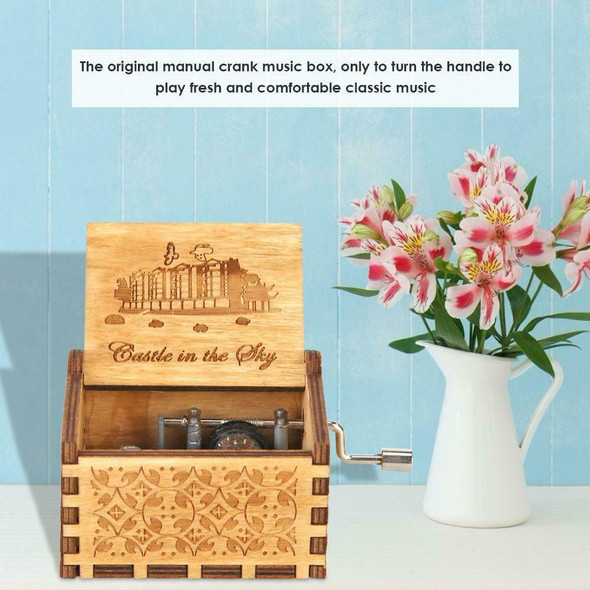 Retro Wooden Hand Cranked Music Box Kids Child Birthday Gift Home Ornaments #gib