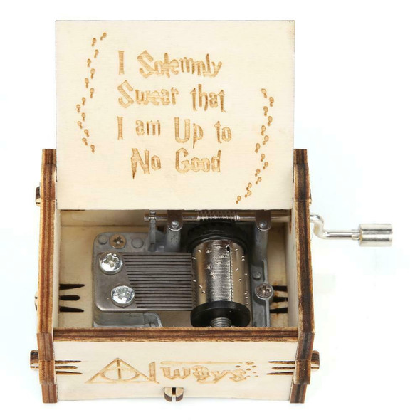 Retro Wood White Hand Cranked Music Box Kids Child Birthday Gift Home Decor #gib