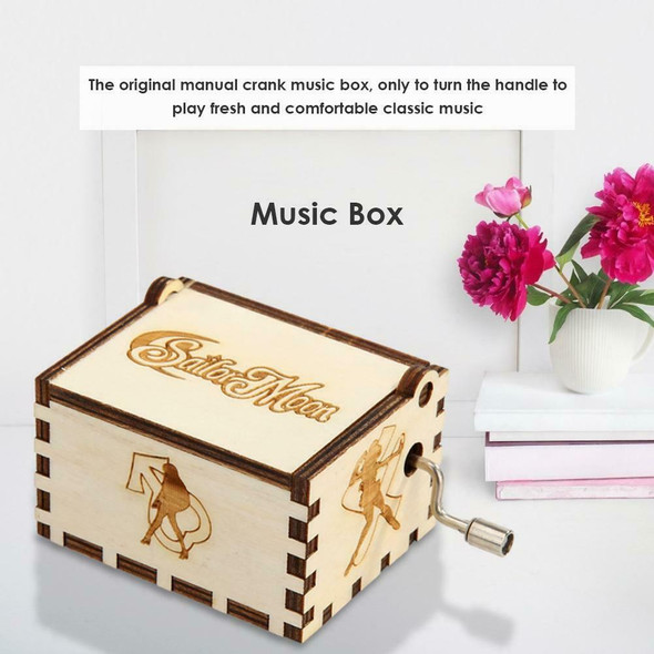 Retro Wood Manual Music Box White Beauty Girl Style Birthday Gift Ornament #gib