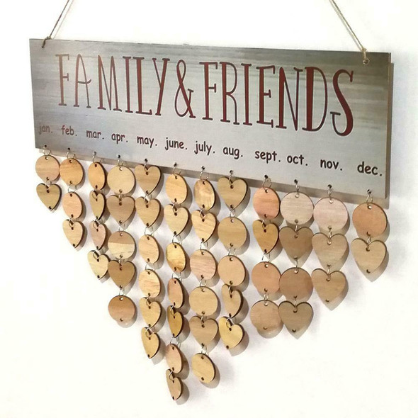 Wooden Hanging Calendar ​Birthday Reminder Board Family Date Planner Sign #gib