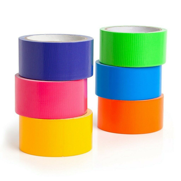 Multi Colored Duct Tape 6 Colors 10 yards x 2 inch rolls Girls & Boys Kids Craft