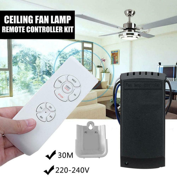 Ceiling Fan Lamp Remote Controller Kit Timing Wireless Intelligent Switch #gib