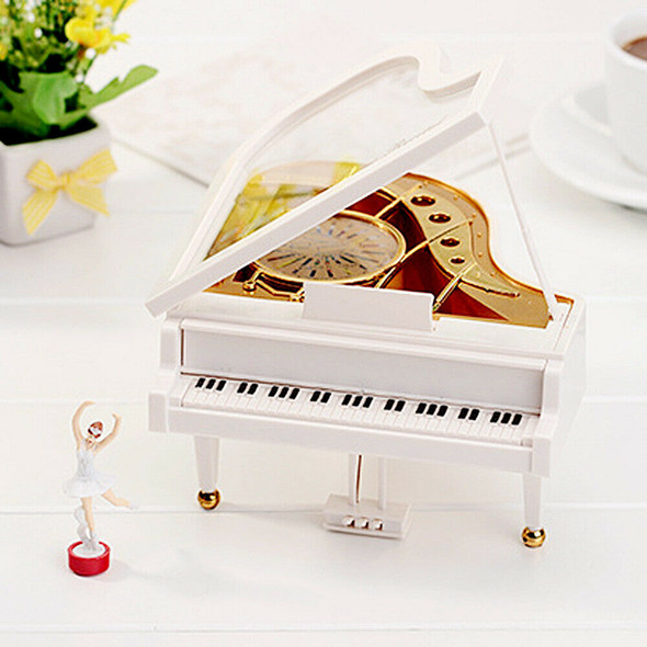 Clockwork Type Rotary Classical Ballerina Girl On The Piano Music Box #gib