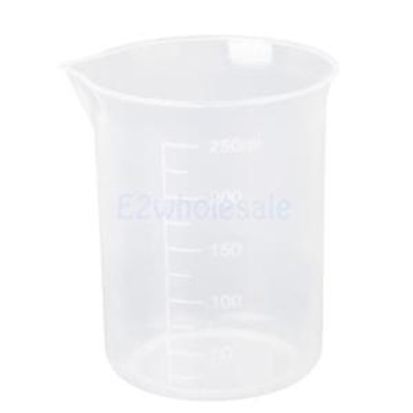 10pcs 150ml 250ml Graduated Beaker Transparent Measuring Mug Plastic Set
