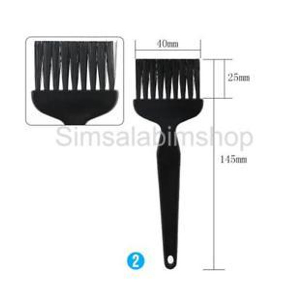 8 in 1 Plastic Small Portable Handle Nylon Anti Static Cleaning Brush Black