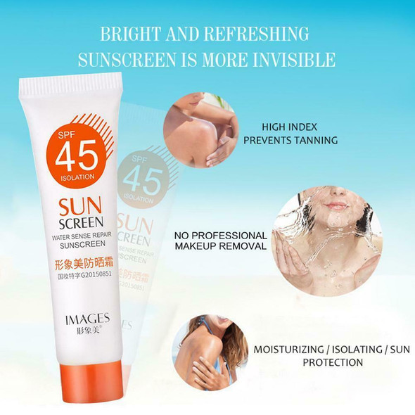 SPF45 + Moisturizing Refreshing Non Greasy Sunscreen Light UV Protect Breathable