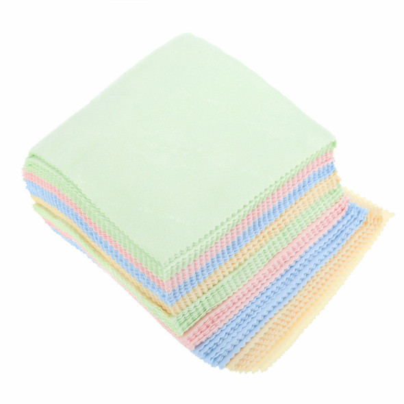 10pcs Microfiber Square Clean Cleaning Cloth For Phone Screen Lens Eye Glasses