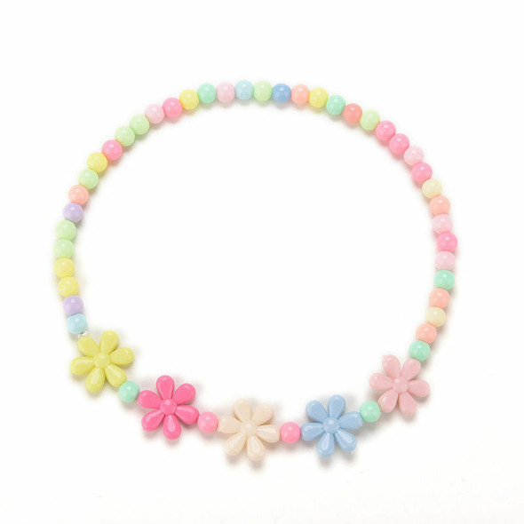 Girl Baby Toddlers Necklace&Bracelet Flower Kids Gift Party Jewelry Baby、NewBX