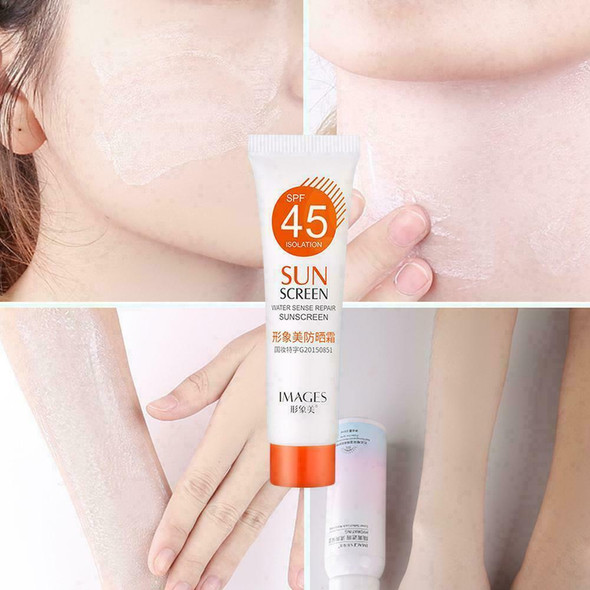 SPF45 + Moisturizing Refreshing Non Greasy Sunscreen Protect UV Breathable W4W5