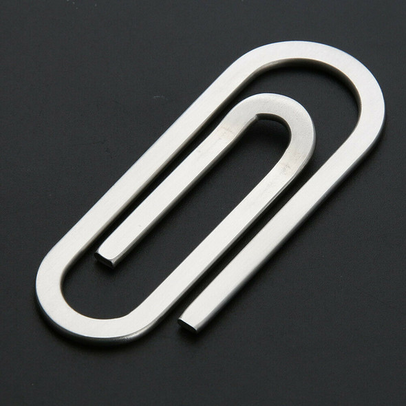 Stainless Steel Metal Money Clips Paper Clip Holder Folder #JT1