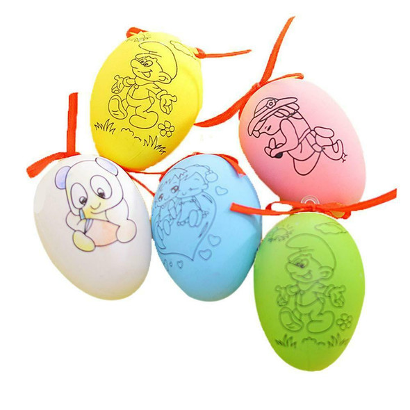 DIY Colorful Painted Eggs Plastic Manual Making Egg Toys Kid Education Toys #JT1