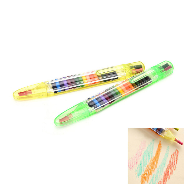 20 Colour Oil Pastel Crayons Pen Stationery Cartoon Children Gift Pop3C