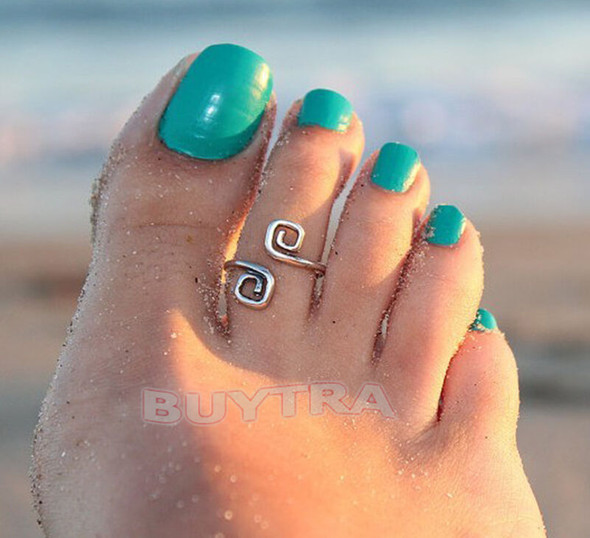 Attractive Women Charm Simple Toe Ring Adjustable Foot Tide Beach Jewelry FT