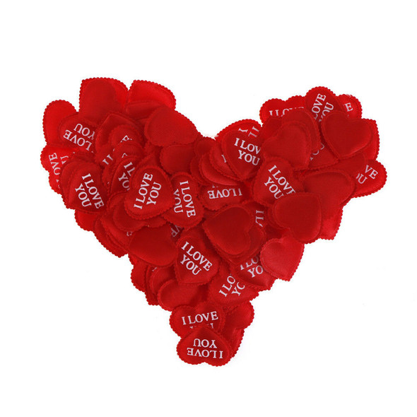 100pcs Fabric Heart Love you Wedding Party birthday Confetti Table Decoration3cO