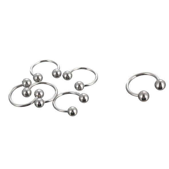 Stainless Steel Body Piercing Jewelry Eyebrow Tongue Bar Labret Lip Nose Ring JR