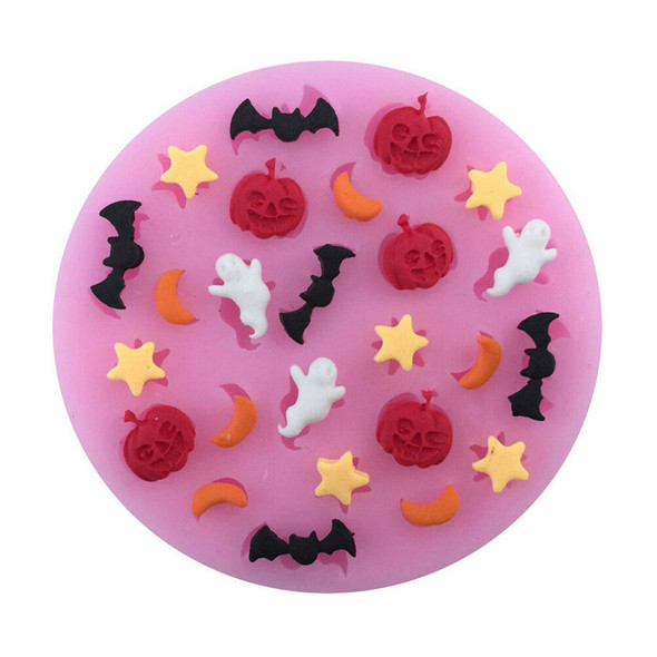 halloween pumpkin bat moon star polymer clay mold fondant mold flexible  JR