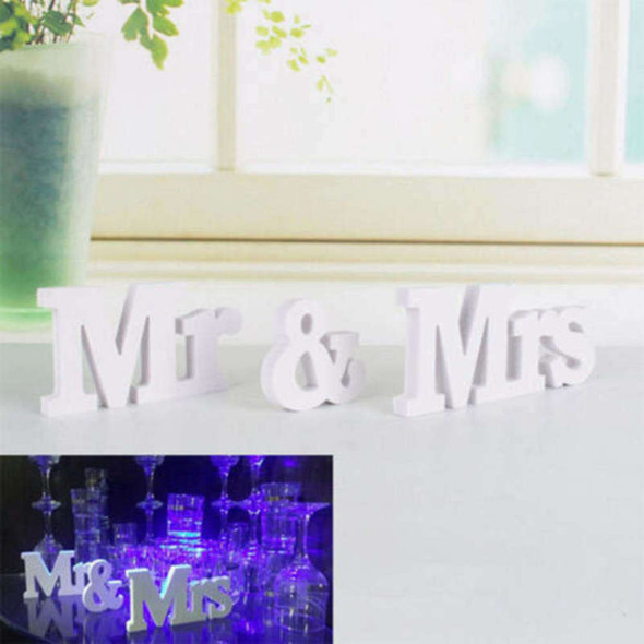 Wedding Sign Mr & Mrs Letters White Wooden Letters Birthday Party Decoration New