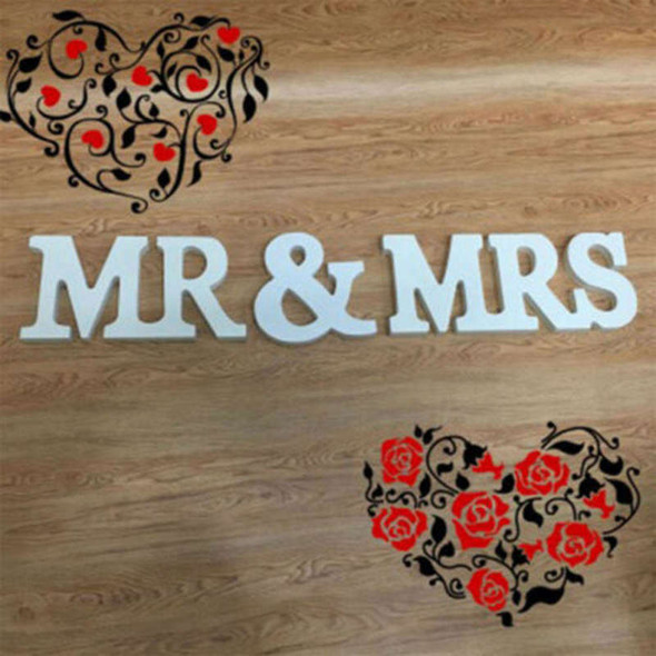 Wedding Sign Mr & Mrs Letters White Wooden Letters Birthday Party DecorationsHot