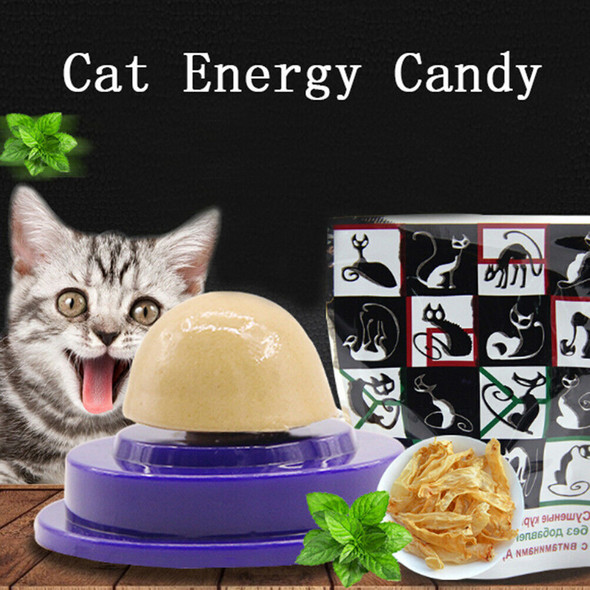 Cat snacks catnip sugar candy licking solid nutrition energy ball toys healthysp
