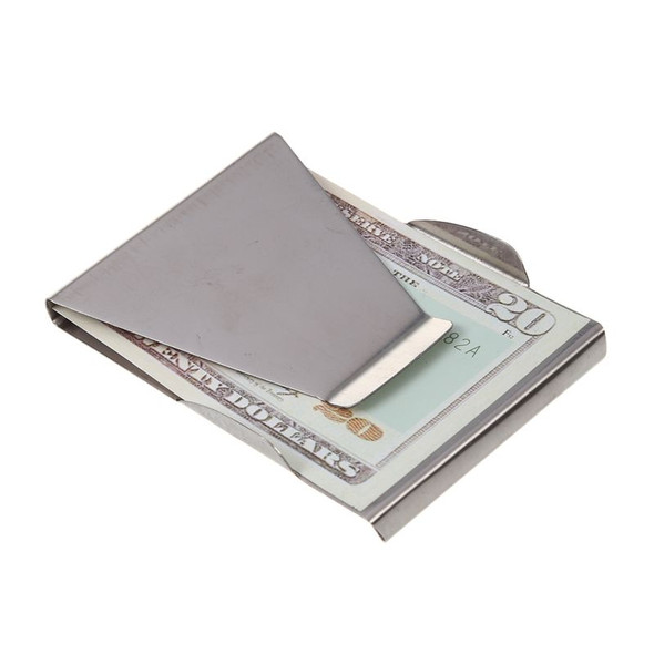 Money Clip Credit Card Holder Unisex Double Sided Holder Wallet G5J4