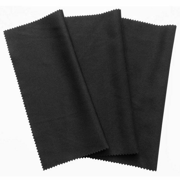 3x microfiber cleaning cloth 20x19cm, black cleaning cloths, touchscreen, s P8F7