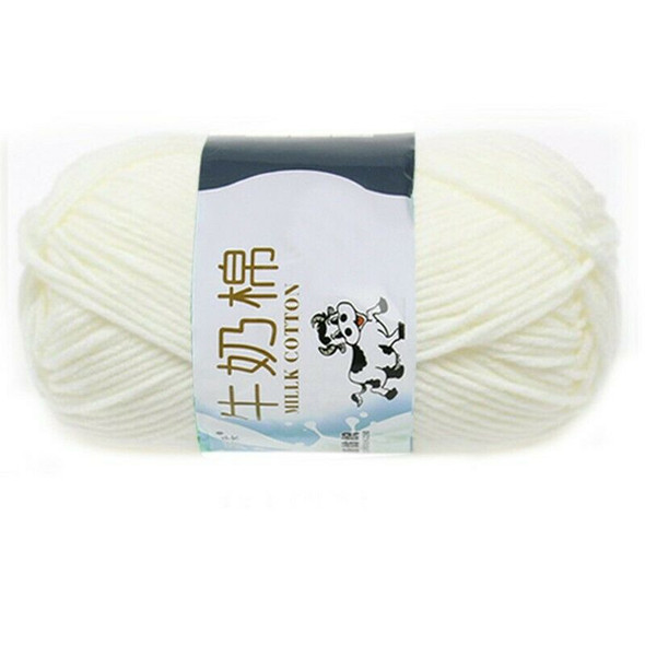 1 group Milk Cotton wool Yarn For Hand knitting Soft(white)Line rough about L8T7
