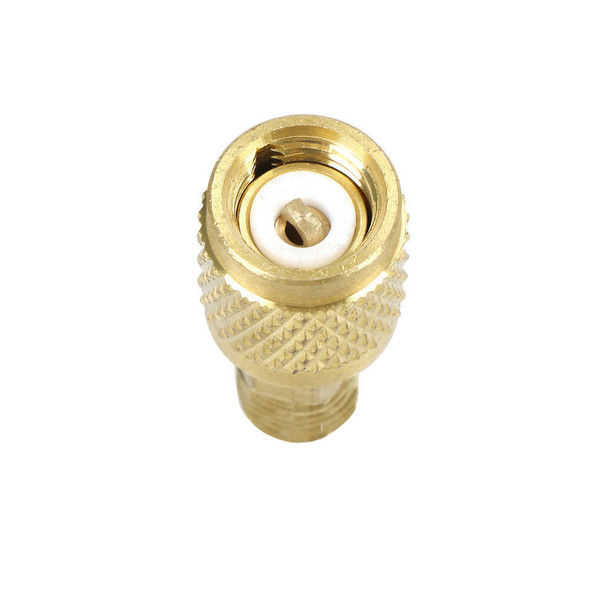 "New R410 Brass Adapter 1/4"" Male To 5/16"" Female Charging Hose To Pump JR"