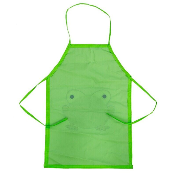 New Cute Child's Children Waterproof Apron Cartoon Printed Painting Cooking L9P7