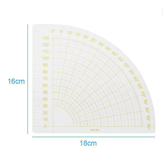 Fan Shape Foot Seam Ruler Quilting Patchwork Scrapbook DIY Sewing Tools A#S