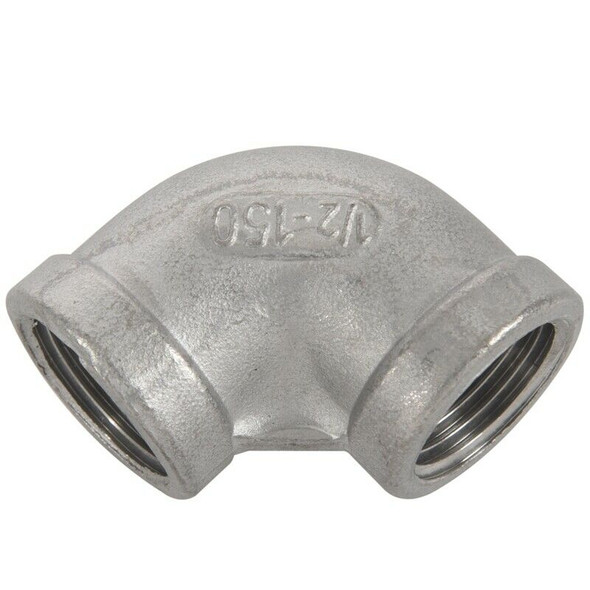 1/2BSP Female 90 Degree Stainless Steel Equal Elbow Pipe Fitting S1U8