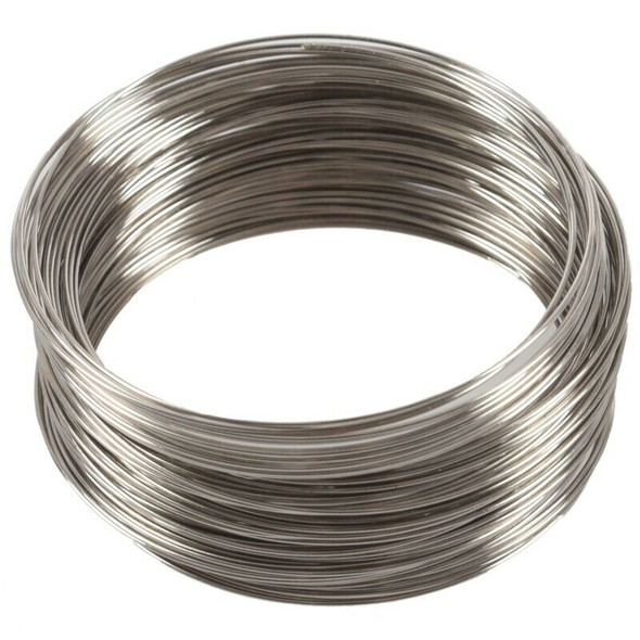100Loops Memory Beading Wire for Bracelet 50mm-55mm(2 inch-2 1/8 inch) Dia S1C8