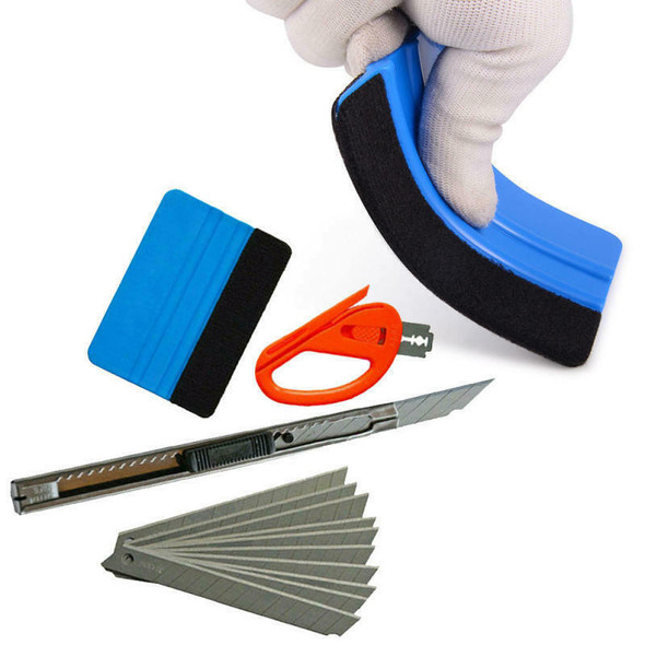 4x Car Vinyl Wrapping Tools Squeegee Applicator Kit Window Tint Film I HSK