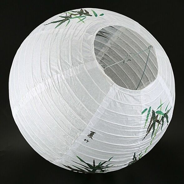 35cm Lamp Shade Paper Lantern Oriental Style Light Decoration, Bamboo S9P3