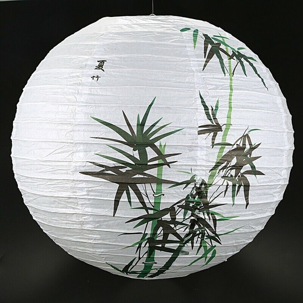 35cm Lamp Shade Paper Lantern Oriental Style Light Decoration, Bamboo O5A8