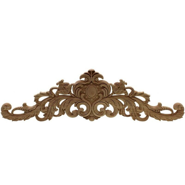 Carving Natural Wood Appliques For Furniture Cabinet Unpainted Wooden Mould U2M6
