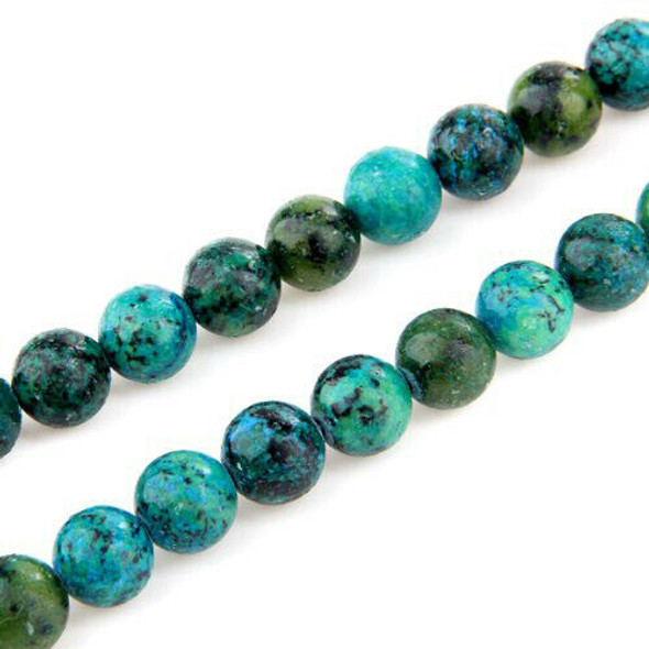 10 mm ball chrysocolla loose beads semi-precious stones D4Z2