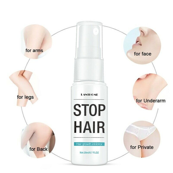 Lanthome Effective Permanent Hair Growth Inhibitor After Hair Removal Repai X6U3