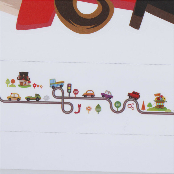 car bus highway track wall stickers for children's room decor wall art 3C
