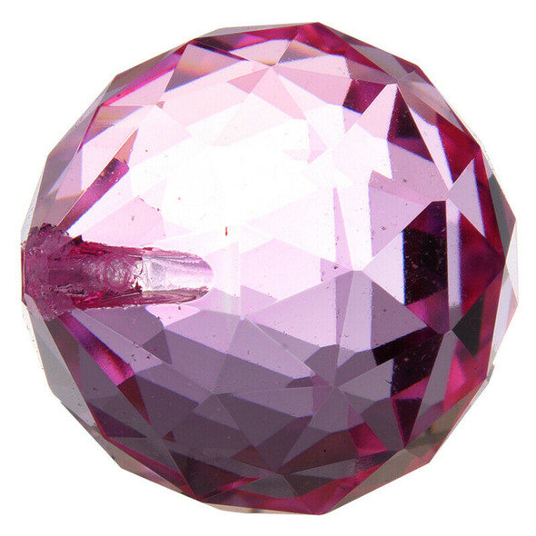 40mm Feng Shui Crystal ball - Pink V7C7